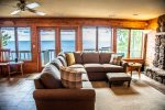 More incredible views of Lake Superior can be enjoyed from the lower level living room.