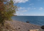 600 feet of private cobblestone Lake Superior beach is available to all Aspenwood guests.