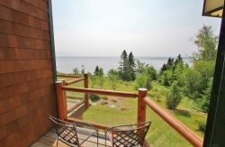 Aspenwood 6546 is a modern vacation townhome rental with priceless Lake Superior views, located on the Gitchi-Gami State Bike Trail