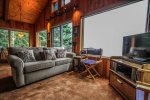 Large windows allow you to take in the views of Lake Superior from all areas of the living room.