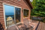 Step out to the lake-facing balcony and enjoy the Lake Superior views.