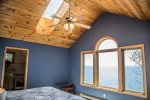 The master suite greets you with incredible Lake Superior views from the large windows.