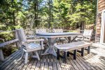 On a warm summer`s day you can enjoy a meal with your family on the home`s lake-facing deck.