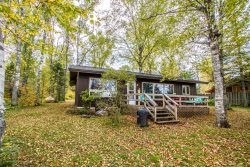 Birch Hollow is a cozy vacation rental home along the shores of Devil Track Lake in Grand Marais.