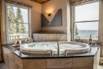 All honeymoon-suite bedrooms throughout Bluefin Grand Superior units -  Lake views augmented with stunning clerestory windows, great for star-gazing
