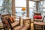 Views of Lake Superior abound from the living room.