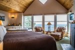 Open the windows and listen to the crashing-wave sounds - upper-level master bedroom, sometimes called the honeymoon suite.
