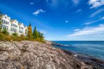 Just steps away from an exclusive ledge rock Lake Superior shoreline.