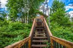 Lake access is via a staircase down to your private dock.