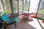 The sun porch is truly a highlight of this property- with sweeping Lake Superior views.