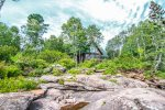 Located just a short 30 foot walk to the shoreline area, Sister`s Cabin offers amazing views with ample amounts of privacy.