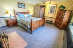 Sleep in comfort in the queen bed in the master bedroom.