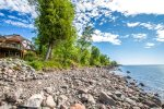 Birken Bay has 4 bedrooms, 2 bathrooms, and 200 feet of private Lake Superior shoreline.