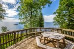 Enjoy incredible views of Lake Superior from the deck.
