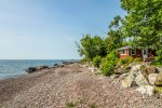 View of cabin from the shores of Lake Superior.