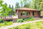 This small, cozy, lakefront cabin is perfect for a Lake Superior getaway.