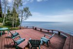 The large deck has amazing views of Lake Superior.