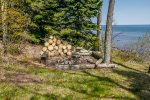 The firepit is a great place to relax and share your Northshore adventure stories.