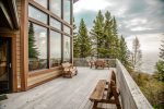 One of the best features of this home is the expansive lake-facing deck that has plenty of seating for everyone to be able to enjoy the sights and sounds of Lake Superior.