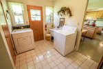 Coming for an extended stay  Do your laundry in the laundry room off of the kitchen.
