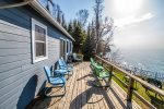 The real highlight of this cabin isn`t what`s inside, it`s what`s outside. Especially this large lake-facing deck.