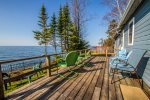 Sit out here with your cup of coffee in the morning and watch the sun rise over Lake Superior.  What could be better