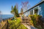 The lake-facing deck provides guests with hours of pure entertainment- Lake Superior.