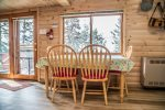 Enjoy your meals, and views of Lake Superior, from the dining table.