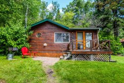 Opels Cabin 4 is only about 100 feet away from the Lake Superior shore with easy kayak access and beautiful starlit skies.
