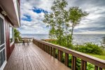 The deck wraps around two sides so you have plenty of space to enjoy the Lake views.