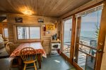 The windows make the cabin bright and cheery while allowing you to enjoy the Lake Superior views from most rooms.