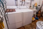 The washer and dryer are great for doing laundry in the middle of a longer stay.