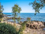 Enjoy 200 feet of private Lake Superior shoreline.