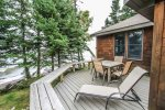 Enjoy listening to the waves from your private deck as they crash against the Lake Superior shoreline.