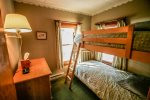 The guest bedroom has bunk beds - great for kids