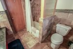 The main level bathroom features a shower/tub combo.