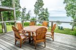 While you enjoy your meal outside you can take in the sights and sounds of Lake Superior.