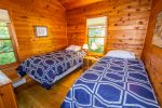 The second bedroom has two twin bed- great for kids