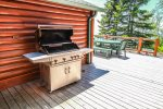 Enjoy the gas grill for a summer cook-out.