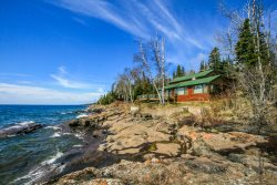 Foxfire is an extraordinary cabin near Lutsen that offers peace and tranquility and beautiful views of Lake Superior.