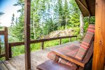 You can enjoy views of Poplar Lake from the deck.