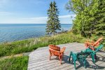 Sit back, relax, and enjoy Lake Superior for as far as the eye can see.