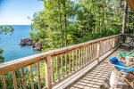 Or sit on the deck and enjoy the sights and sounds of Lake Superior.
