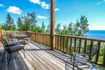 Enjoy sweeping Lake Superior views from your private decks.