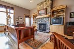 Living room also features a gas fireplace, good for those cold winter days.