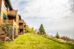 The townhome sits on a cliff overlooking Lake Superior.