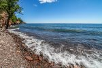 This gorgeous cobblestone shoreline is a favorite for Aspenwood visitors.