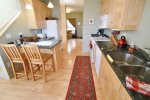 The full size kitchen is well equipped, a great place to prepare meals during your stay.