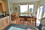 Enjoy great views of Lake Superior while you prepare your meals or while you eat in the living room/dining room area.