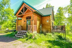 Phoenix Cabin is north woods life at its best with private location and wild life right out your back door.